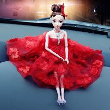 made wedding dress doll car dashboard ornaments auto