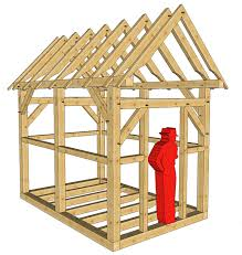 a frame playhouse plans home pattern