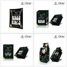 sachets of hair colours 2015 2015 best sale products dexe hair black shoo hair coloring