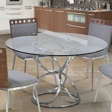 Dining Table Ls Living 48 Dining Table In Brushed Stainless Steel