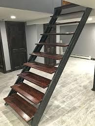 creative designs replacing basement stairs stair repair rail