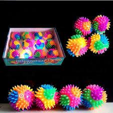 light up spiky led ball bounce ball dog cat flashing sensory fun