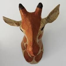 papier mache animal head trend for nursery popsugar moms