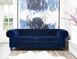 blue chesterfield sofa hazelwood home deluxe 3 seater chesterfield sofa reviews wayfair