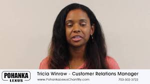 lexus parts manager tricia winrow customer relations manager youtube