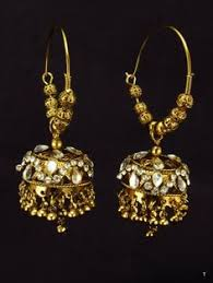 punjabi jhumka earrings gold ruby chandbali with jhumka earrings collections