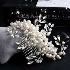 vintage comb aliexpress buy handmade silver bridal hair comb white pearl