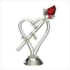 glass roses valentines glass roses figurine page 1