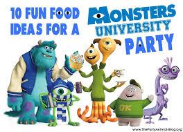 10 fun food ideas monsters university party thepartyanimal