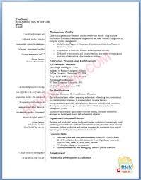 Elementary Teacher Resume Format Experienced Teacher Resume