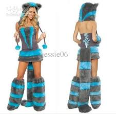 Wolf Halloween Costume Furry Fasching Wolf Cat Halloween Costume Cosplay Fancy