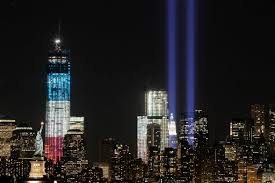 world trade center lights radaractive 9 11 we will never forget