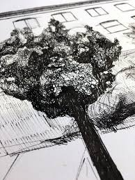 how to draw trees in urban sketching in 3 simple steps