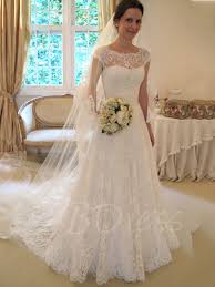 floor length a line cap sleeves court lace wedding dress lace