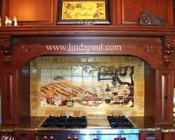 Kitchen Tile Backsplash Murals by The Vineyard Tile Murals Tuscan Wine Tiles Kitchen Backsplashes