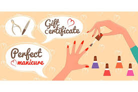 nail salon gift cards gift certificate manicure illustrations creative market