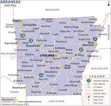 state of arkansas map arkansas state map