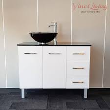 Black Bathroom Vanity Units by Alto 1000mm Freestanding Bathroom Vanity Unit Black Glass Top