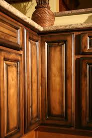Finishing Kitchen Cabinets Ideas Kitchen Frightening Brown Glazed Kitchen Cabinets Favorite Mocha