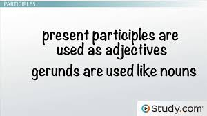functions of verbals gerunds participles and infinitives