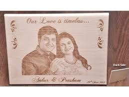 wooden personalized gifts personalized engraved wooden photo plaques in india printing on