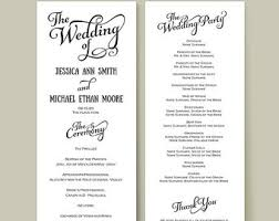 wedding reception program wedding reception programme program template recent vizarron