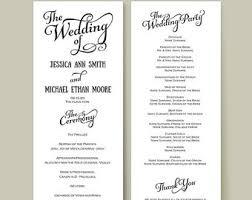 wedding reception program wording wedding reception programme program template recent vizarron