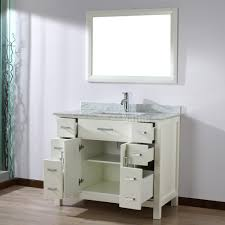 studio bathe kelly 42 inch white finish bathroom vanity solid