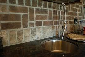 Brick Tile Backsplash Kitchen Brilliant Exquisite Brick Tiles For Backsplash In Kitchen Gray