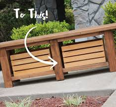 Garden Bench With Storage Staining And Finishing Wooden Bench Behr