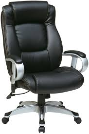 Height Adjustable Chair Ech52666 Ec3 Office Star Executive Black Eco Leather Chair With