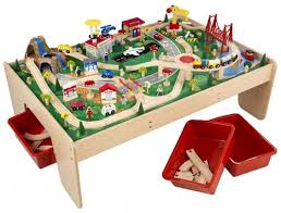 wooden train set table train set limited edition train table and train set with waterfall