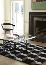 Black And White Modern Rug by 3d Geometric Rug Black U0026 Grey Rugs Pinterest Gray Wool Rug