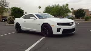 white chevy camaro 2013 chevrolet chevy camaro zl1 in white paint engine sound on