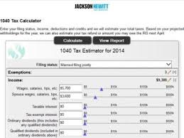 Estimate Tax Refund 2014 by 8 Tax Refund Calculators