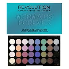 makeup revolution ultra 32 eyeshadow palette mermaids forever 30g