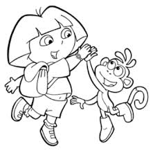 free printable dora explorer coloring pages kids coloring