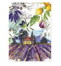 campagna cotton kitchen towel by michel design works lavender