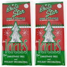 amazon com brite star silver 18 inch icicle tinsel 2000 strands