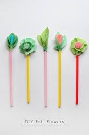 felt flowers diy felt flowers delineate your dwelling