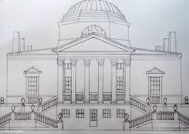 how to draw a big house pencil art drawing
