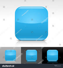empty icon blue color glossy web stock vector 147512918 shutterstock