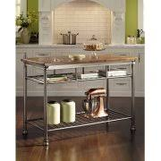 kitchen island with chopping block top butcher block carts