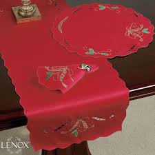 Holiday Table Runners by Lenox Holiday Nouveau Cutwork Table Runner