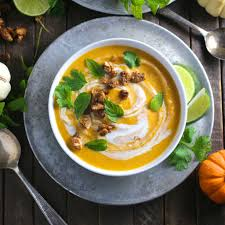 thai coconut curry butternut squash soup nerds with knives