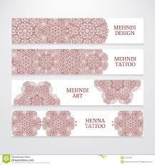 set of flyer templates mehndi design stock vector image 57365333