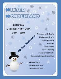 free winter wonderland microsoft word flyer template flyertutor