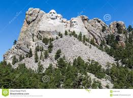 Mt Rushmore Map Mount Rushmore National Memorial South Dakota Usa Stock Photo