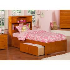 bedroom white wooden bed frame with sorage drawer and tall head
