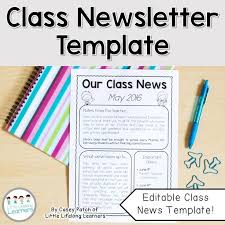 classroom newsletter template classroom newsletter templates old